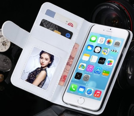 Booklet ID Flip PU Leather Case for Apple iPhone 6 (4,7¨), White