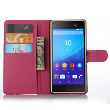 Wallet PU Leather Case for  Sony Xperia™ M5, Rose