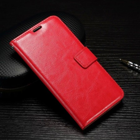 Wallet Flip PU Leather Case for Huawei P9, Red