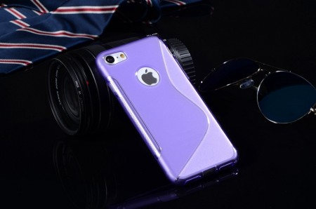 Flexi Shield Skin for Apple iPhone 7 (4,7¨), *S~line*, Purple