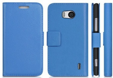 Wallet PU Leather Case for Nokia Lumia 930, Blue