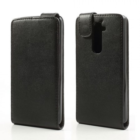 Flip PU Leather Case for LG Optimus G2 (D802), Black
