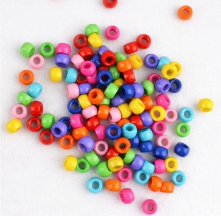 Loom-Bands Plastic Beads, *Opaque Multi Pearl 6*