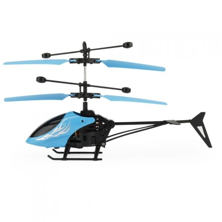 Flying 2CH Hand Induction Infrared Helicopter, Blue