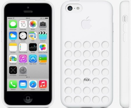 TPU gel case for Apple iPhone 5c, *Dot*, White