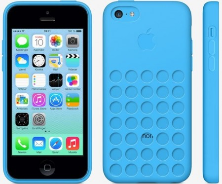 TPU gel case for Apple iPhone 5c, *Dot*, Blue