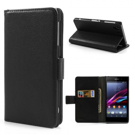 Booklet Flip PU Leather Case for Sony Xperia Z1 (C6903),Black