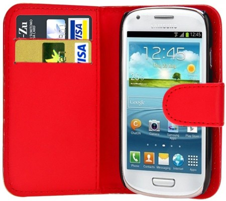 Wallet PU Leather Case for Samsung Galaxy Ace 4 (G357F), Red