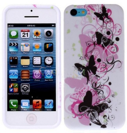 Flexi Shield Skin for Apple iPhone 5c, *Decor Design*, Butterfly