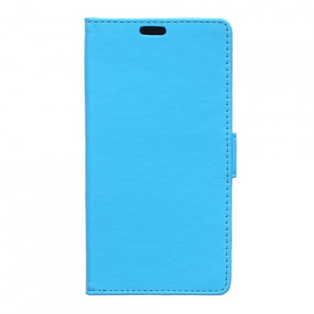 Wallet PU Leather Case for Huawei Y6, Blue