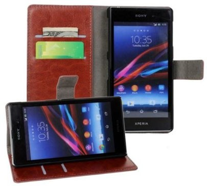 Booklet Flip PU Case for Sony Xperia™ Z2, Mocca