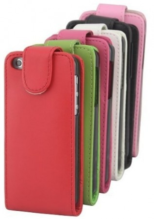 Vertical Flip PU Leather Case with card pocket for Apple iPhone 5c, *Litchi*