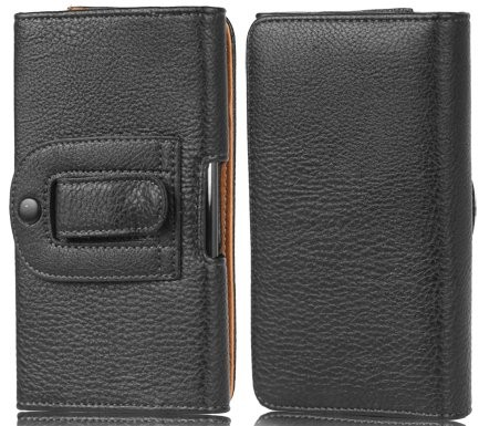 Horizontal PU leather case for cellular,IV,Black