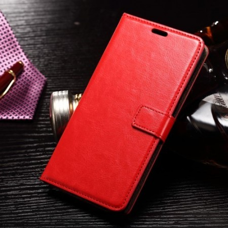 Wallet PU Leather Case for Samsung Galaxy Note 7, Red