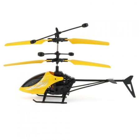 Flying 2CH Hand Induction Infrared Helicopter, Yellow