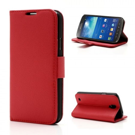 Booklet Flip PU Leather Case for Samsung Galaxy S4 Active (i9295), Red