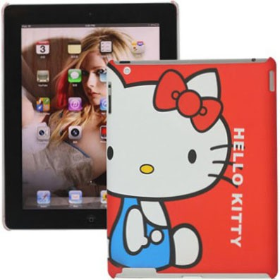 """Hard Back Case for Apple iPad 3, *Hello Kitty"""",Red"""