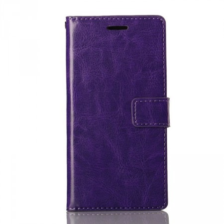Wallet PU Leather Case for Huawei Ascend P7, Purple