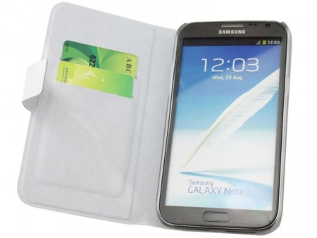 Doormoon Booklet Leather Flip Case Samsung Galaxy Note II, White