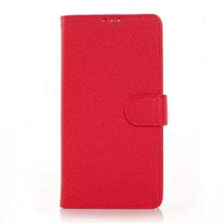 Wallet PU Leather Case for Samsung Galaxy Note 4, Red