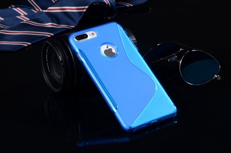 Flexi Shield Skin for Apple iPhone 7 Plus (5,5¨), *S~line*, Blue
