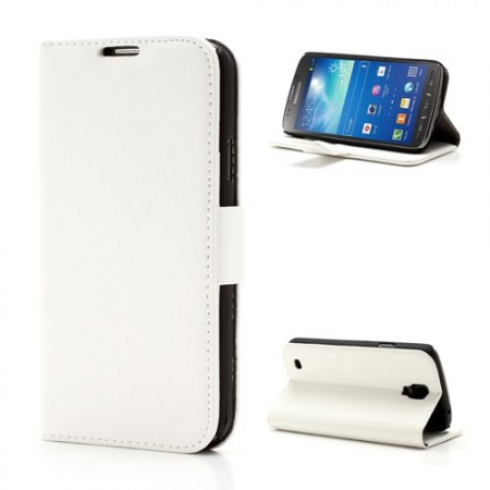 Booklet Flip PU Leather Case for Samsung Galaxy S4 Active (i9295), White