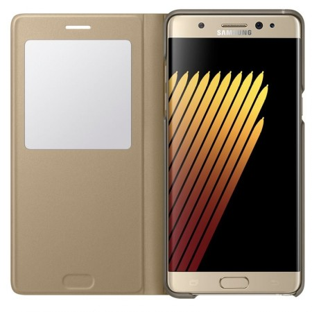 Original S View Cover for Samsung Galaxy Note 7, Gold