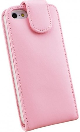 Doormoon Vertical Leather Flip Case for Apple iPhone 5/5S, Pink