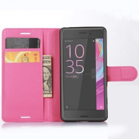 Wallet PU Leather Case for Sony Xperia™ X, Rose