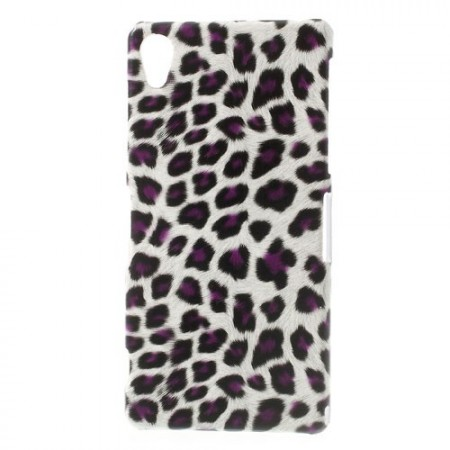 Hard Back Case for Sony Xperia™ Z2, *Leopard*, Purple/White