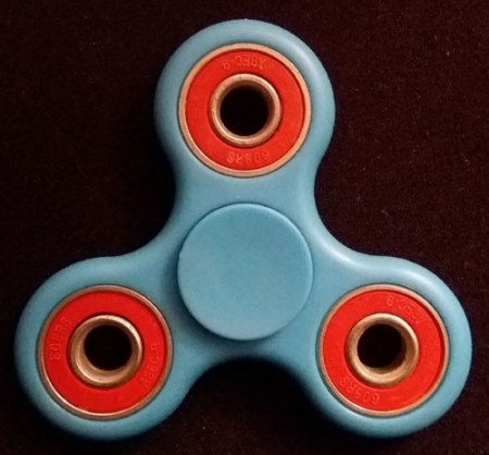 Fidget Spinner ¨TwinColor¨, Light Blue/Red