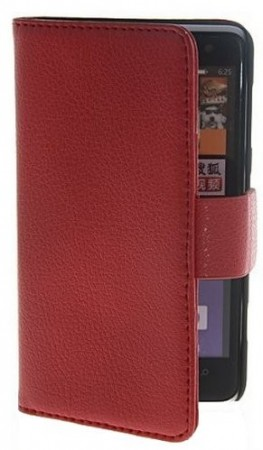 Booklet Flip PU Leather Case for Nokia Lumia 625, Red