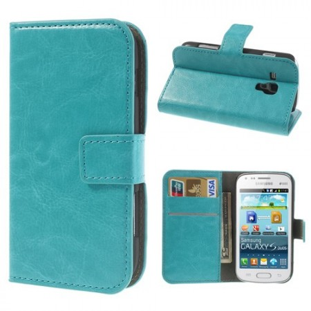 Wallet PU Leather Case for Samsung Galaxy Trend Pluss (S7580), Blue