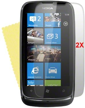 Screen Protector for Nokia Lumia 610N, 2pack