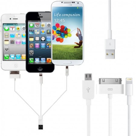 4-in-1 USB Data/Charger cable for smart phones