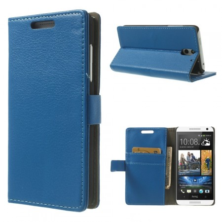 Wallet PU Leather Case for HTC Desire 610, Blue