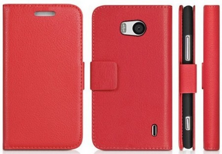 Wallet PU Leather Case for Nokia Lumia 930, Red