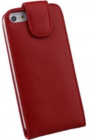 Doormoon Vertical Leather Flip Case for Apple iPhone 5/5S, Red