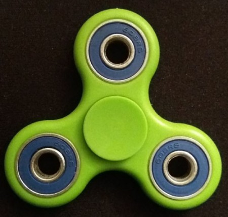 Fidget Spinner ¨TwinColor¨, Green/Blue