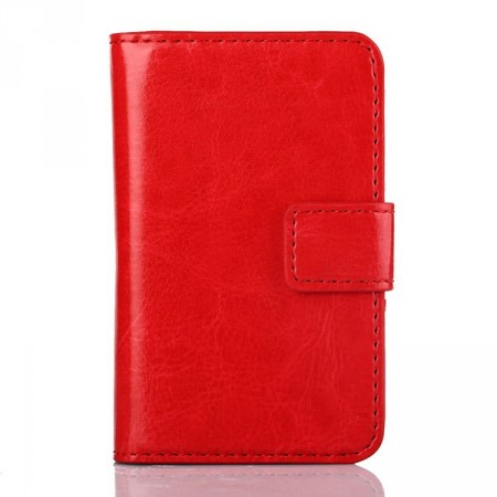 Wallet PU Leather Case for Samsung Galaxy Young 2 (S6310),Red