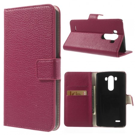 Wallet PU Leather Case for LG Optimus G3 (D855), Rose
