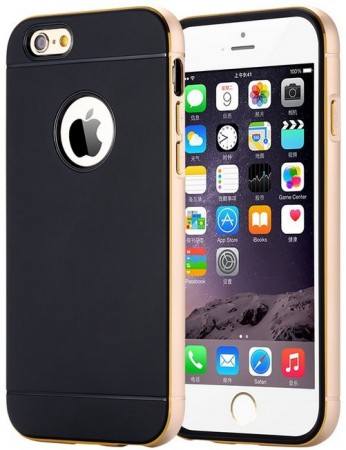 Ultra Slim Dual Layer Metal Brush Back Case For Apple iPhone 6 plus (5.5´´), Gold