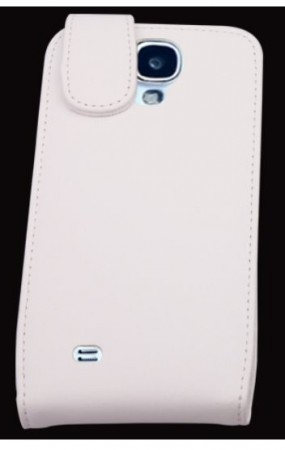 Doormoon Vertical Leather Flip Case Samsung Galaxy S4, White