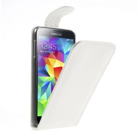Flip PU Leather Case for Samsung Galaxy S5 (G900), White