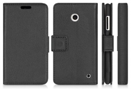 Wallet PU Leather Flip Case Nokia Lumia 630\635, Black