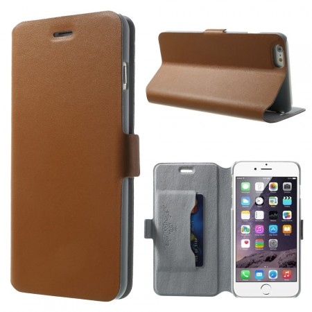 Doormoon Booklet Leather Flip Case Apple iPhone 6 plus (5,5¨), Mocca