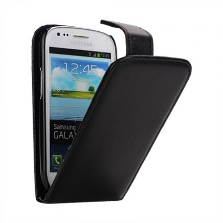Vertical Flip PU Leather Case for Samsung Galaxy S III mini