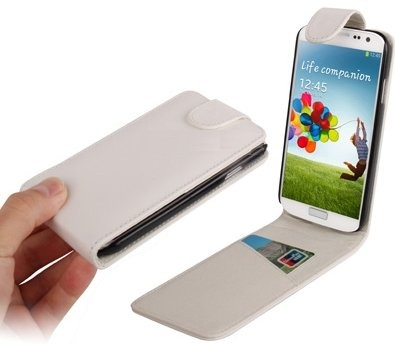 Flip PU Leather Case for Samsung Galaxy S4/S4+  (i9505/i9506), White