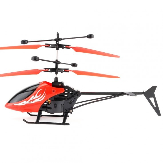 Flying 2CH Hand Induction Infrared Helicopter, Red